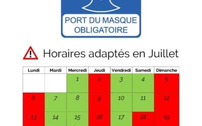 Horaires & Mesures Juillet 2020